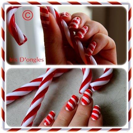 Nail Art de Noël 2011: Candy ! (l)