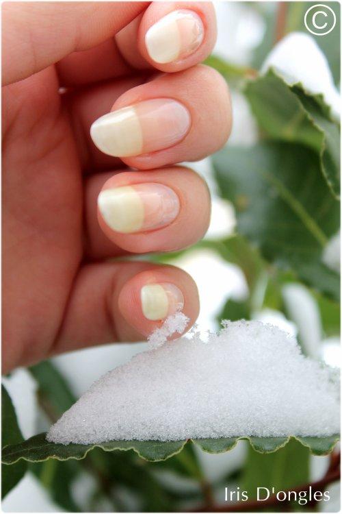 Mes ongles au naturel... Et dans la neige!