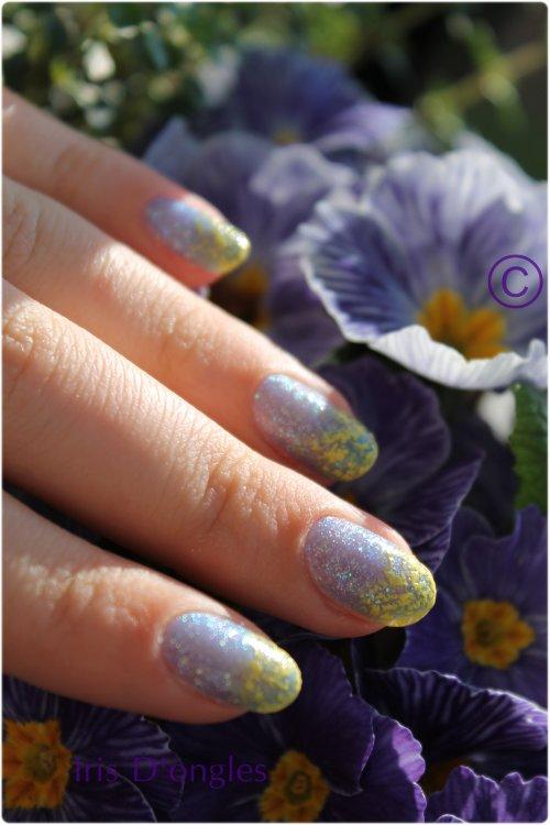 """Nail art """"Neige peinturlurée""""!"""