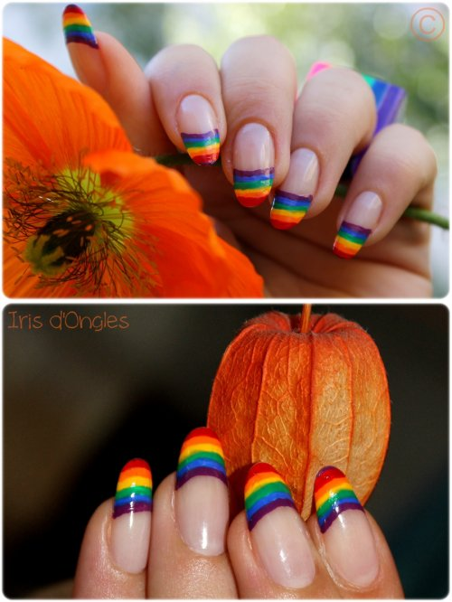 "Nail Art ""Arc-En-French"" (l)"
