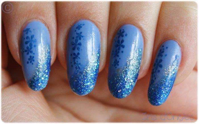 "Nail Art ""Bleuets printaniers"" :$"