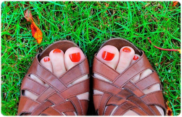 """Superposition: vernis """"Grenadine Tonic"""" de chez BOURJOIS sur vernis N°01 """"Rouge"""" de chez COPINES (pattes arrière)."""