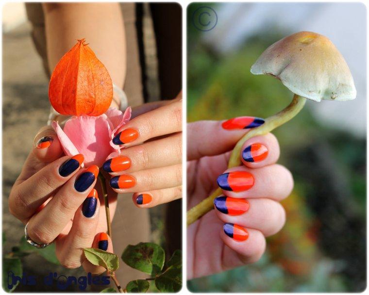 """Nail Art: """"La France des 60's - 70's fait POP!"""" ^^"""