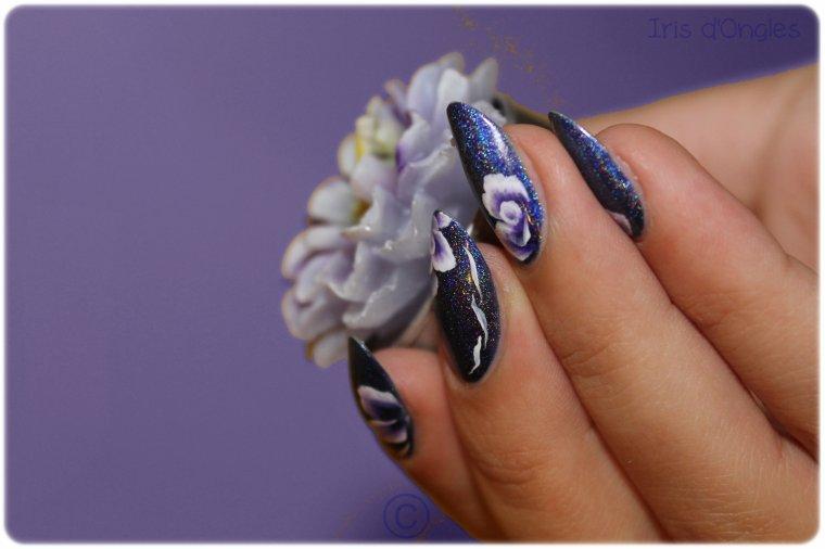 """Nail Art """"Les Bleuets de Tenshi"""" !"""
