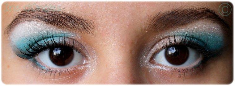 """Maquillage du jour: """"Turquoise... Un brin ténébreux"""" !"""