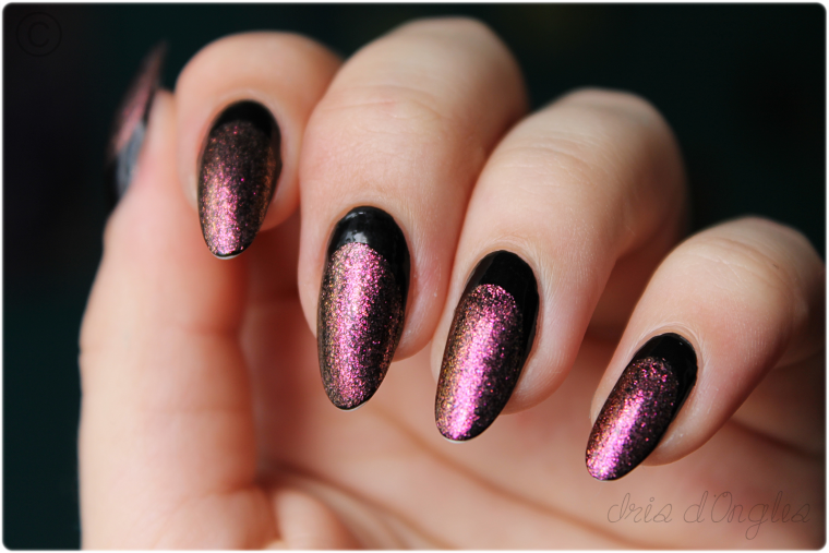 Test: vernis N°308 de chez Claire's (over black).