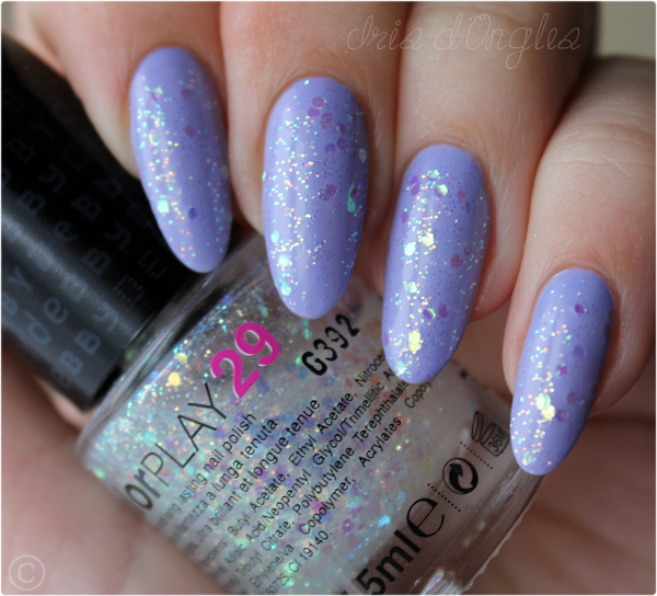 Superposition: vernis N°29 de chez DEBBY sur You're Such A Budapest de chez OPI (l) (l) (l)