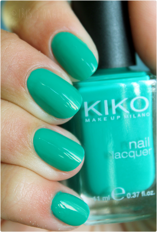 Test: vernis N°343 Spring Green de chez KIKO!