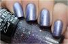 Superposition: vernis N°32 Mauve Glitter de chez Miss Europe sur N°623 Wisteria de chez KIKO ! (l) (l)