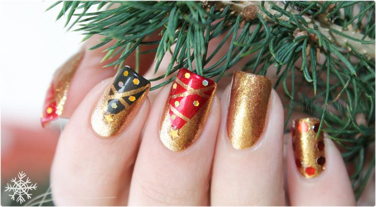 """Nail Art """"Noël Étincelant"""" ! (l) (l) (l)"""
