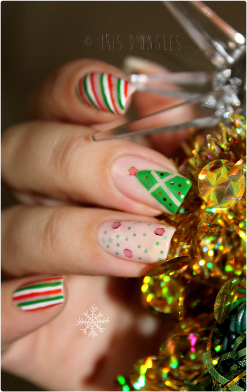 "Nail Art ""Noël tout en tradition"" !! (l)"