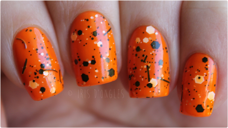 Souvent Test: vernis N°66888 Splatter Orange de chez Claire's (Splatter  UC15