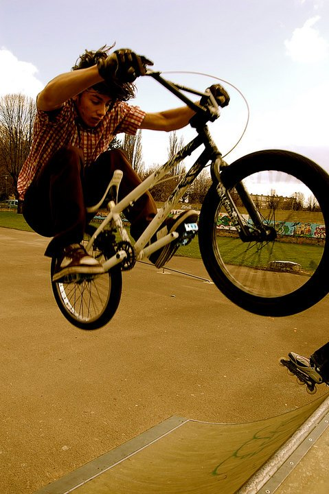 Florent (moi) en Fat Fakie