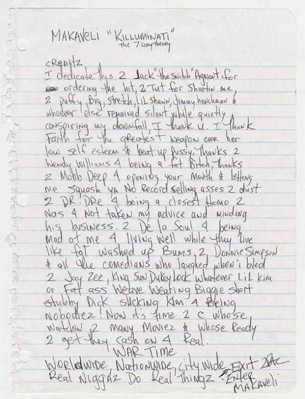 Dans une lettre assassine aujourd'hui exhumée, Tupac prédisait sa mort seul contre tous