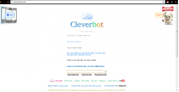 Cleverbot knows who is the master !