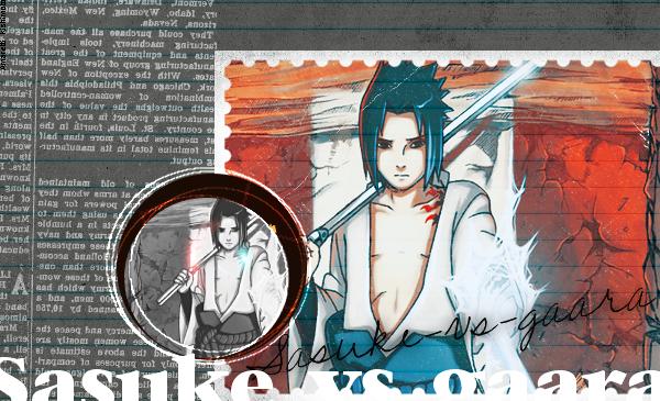Bienvenue sur Sasuke VS Gaara