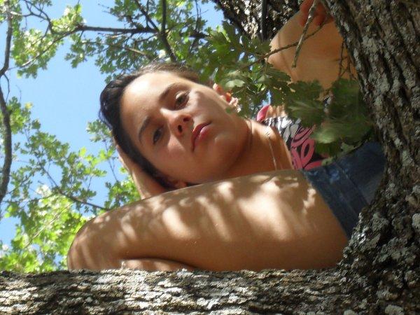 moi dans l'arbre