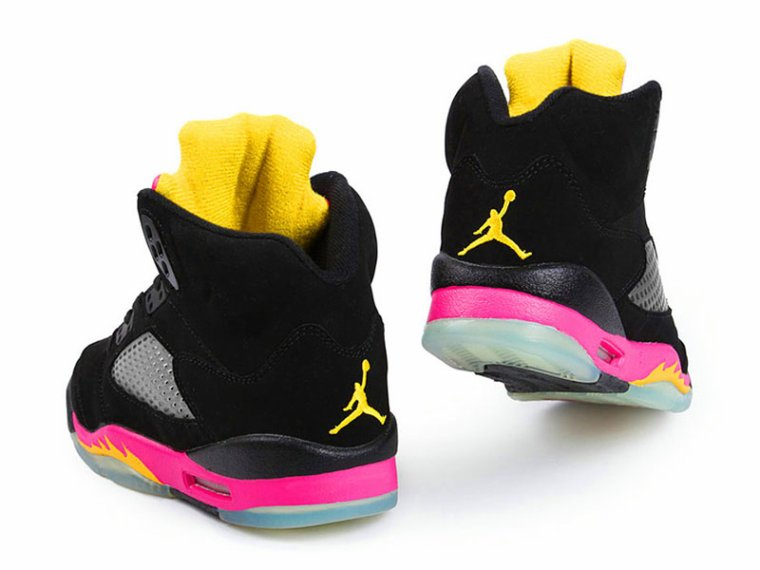 Air Jordan 5 GS - Black/Bright Citrus-Fusion Pink - New Images