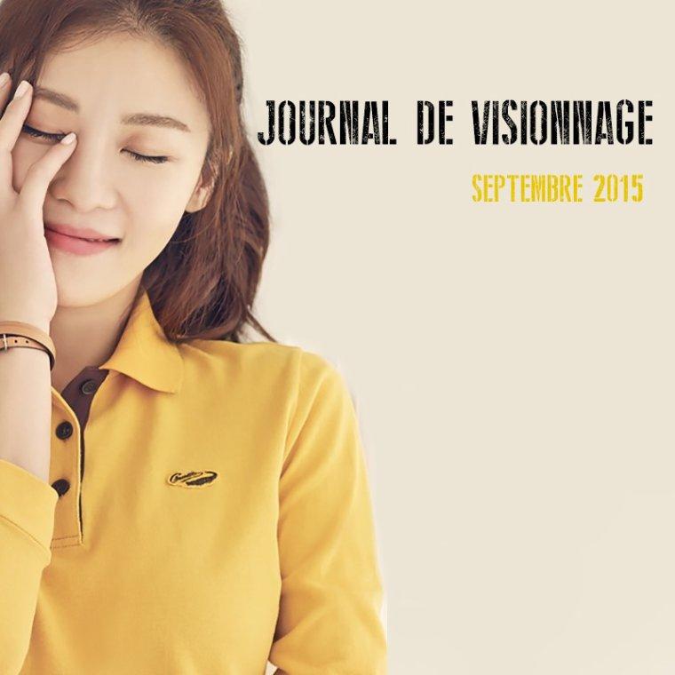 Journal de Visionnage - Septembre 2015