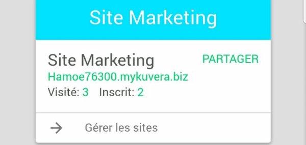 Mon site de marketing