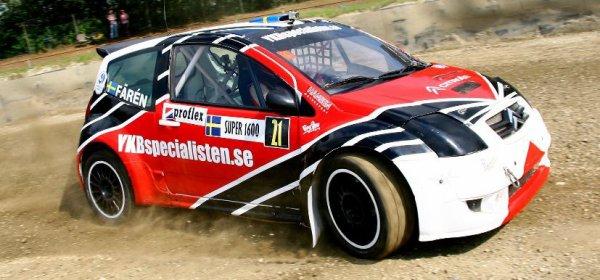Rallycross Europe: Eric Färén remet le couvert sur la C2 Super1600