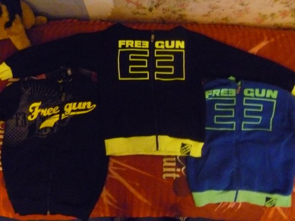 Mes 3 new Sweats FREEGUN