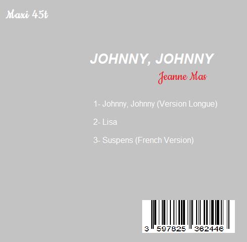Réalisation de différentes pochettes pour Jeanne Mas - Johnny, Johnny