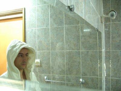 moi dans la douche
