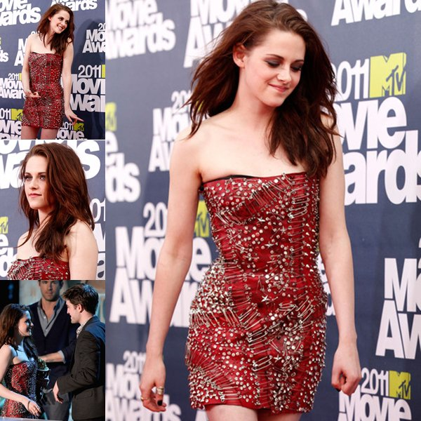 Kristen Stewart et Robert Pattinson aux MTV MOVIE AWARDS 2011.