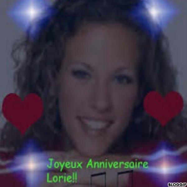 anniversaire de Lorie