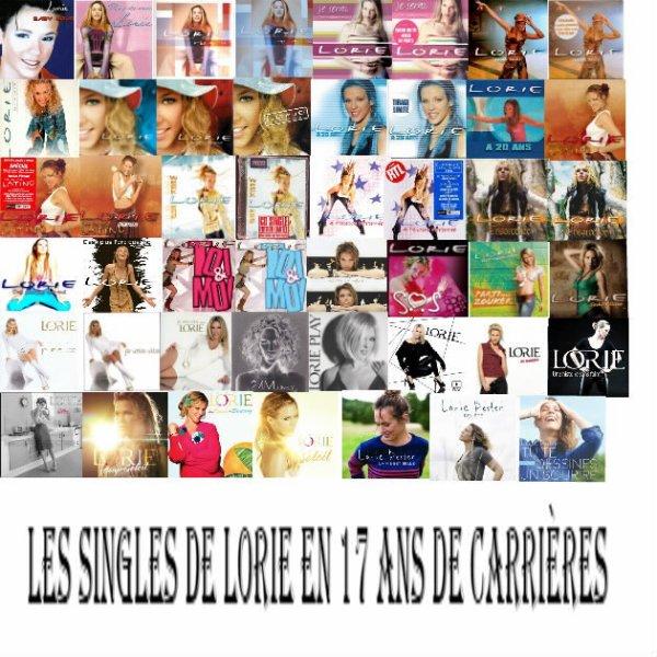 les Singles de Lorie en 17 ans de carrières