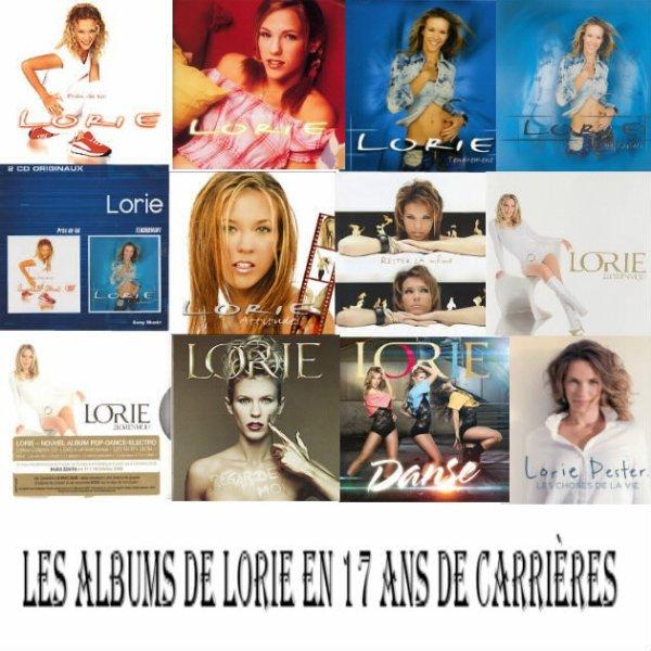 les Albums de Lorie en 17 ans de carrières