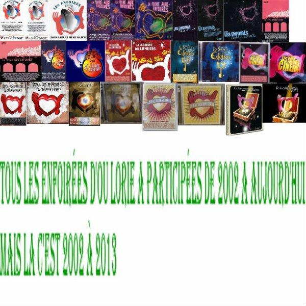 Vhs/DVD/DvD CD des enfoirées