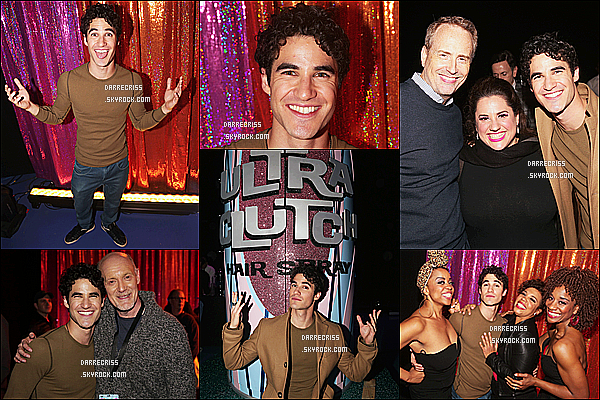 * 07/12/16 : Darren était présent lors de l'after party de l'événement organisé par le téléfilm « Hairspray Live! » Darren était vraiment superbes. Il a posé auprès de plusieurs artistes lors de cette after party. Il porte une tenue simple mais sympa. Top pour moi.  *