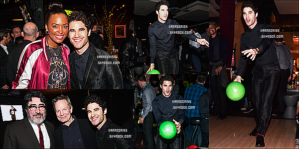 * 06/04/17 : Darren C. a assisté à l'événement « FX Networks All-Star Upfront » qui avait lieu dans New York. Après l'événement, Darren s'est rendue à une sortie bowling. Darren est magnifique et souriant. J'aime bien la tenue qu'il porte. Je lui mets un Top !  *