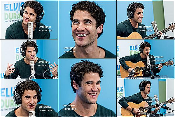 * 02/08/17 : Darren était présent dans l'émission de radio de Elvis Duran s'intitulant - « Z100 Morning Show ». Darren est ravissant. Il a donné une interview et chanté lors de cette émission radio. Il porte la même tenue que précédemment. Toujours un Top !  *