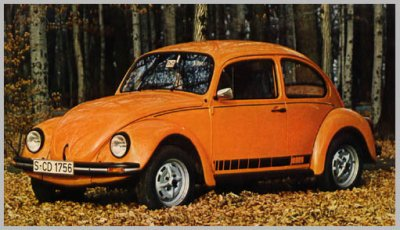 coccinelle volkswagen orange