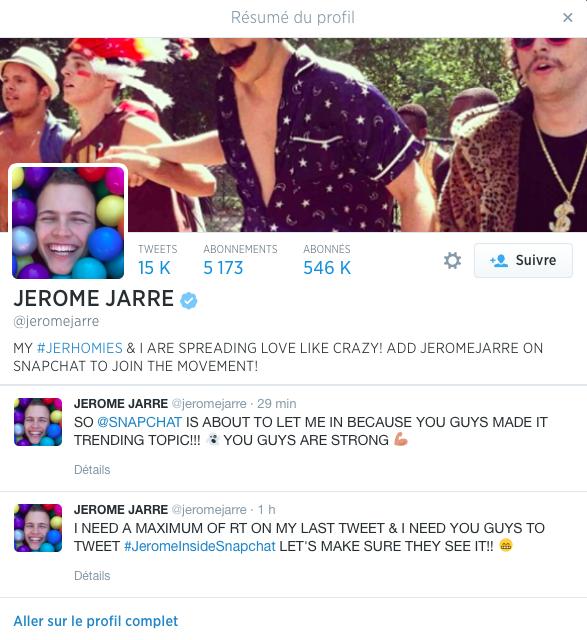 Jérôme Jarre, le french phénomène des réseaux sociaux envahit Snapchat !
