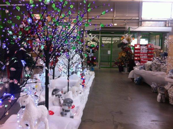 Deco de noel dans magasin bisous a tous bienvenue - Decoration de noel pour magasin ...