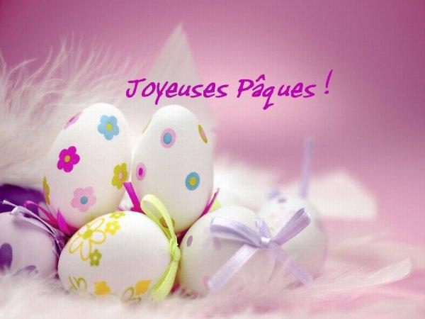 ...BON WEEK END DE PAQUES POUR TOUS..MILLE BISOUS CHOCOLATéS..:)