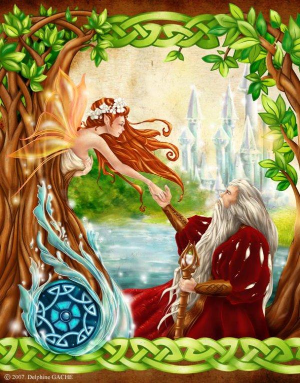 Viviane et Merlin