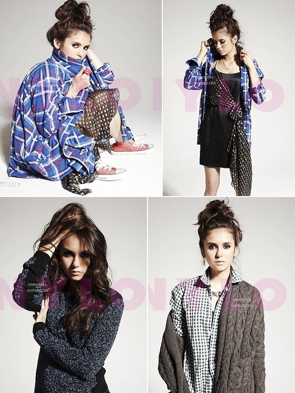 "Photoshoot de Nina Dobrev  pour ""Nylon"" Magazine:"