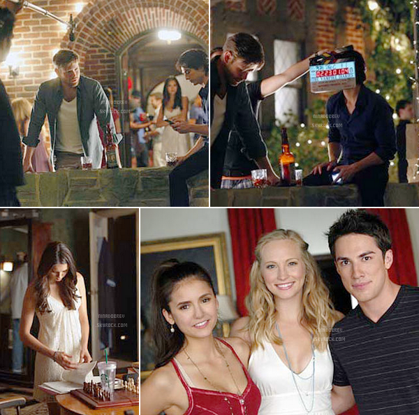 "Nouvelles photos BTS de l'épisode 3x01: ""The Birthday"" de ""The Vampire Diaries"" :"