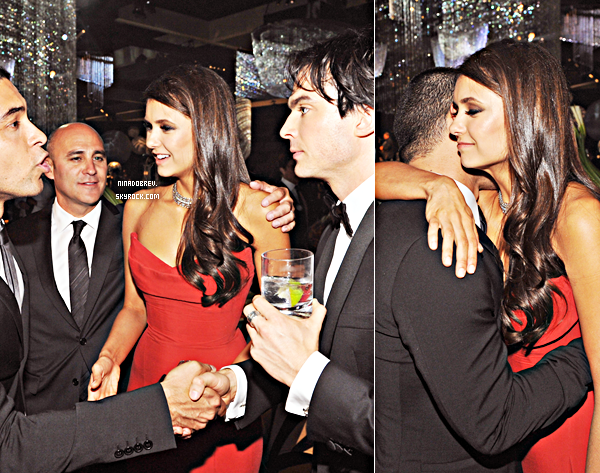 """18.09.2011   C'est une Nina plus sublime que jamais que nous retrouvons avec SexyHalder lors des                 """"63nd PrimeTime Emmy Awards 2011"""" au théâtre Nokia à Los Angeles."""