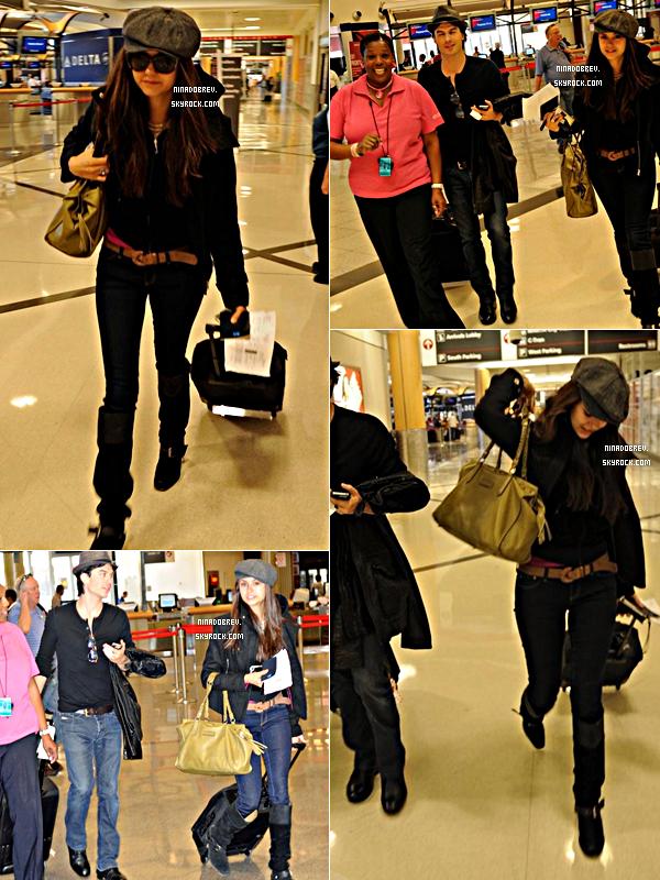 01.10.2011 | Nina et Ian ont été aperçu à l'aéroport d'Atlanta en Géorgie direction New York City !
