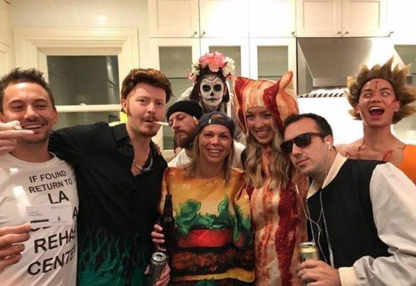 Nina Dobrev pour soirée Halloween hier