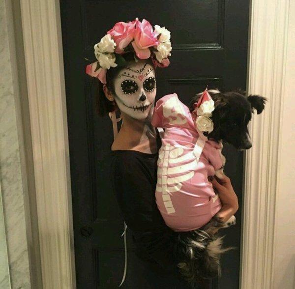 Nina dobrev pour soirée halloween