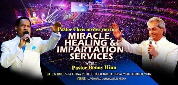 Pastor Benny Hinn To Storm Christ Embassy Lagos - Pastor