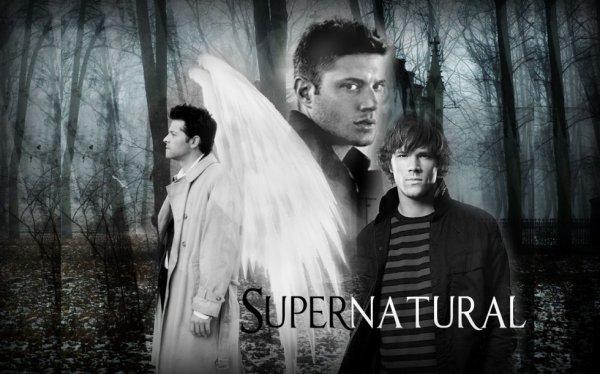 L'ange Castiel et Sam et Dean