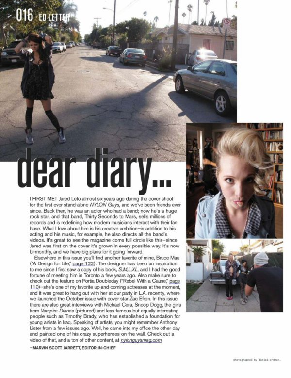 ----------------------------------------------Article Flashback : Photo de Candice pour Nylon Magazine ! ------------------------------------ Candice Accola et sa co-star Nina Dobrev ont posés toutes les deux pour Nylon Guys Magazine du mois de Décembre 2010